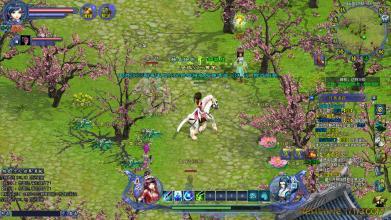 美人江湖游戏中的对战画面