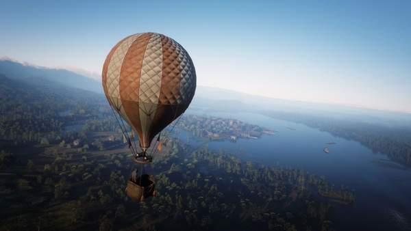 《荒野大镖客2》新MOD出炉 乘坐热气球,鸟瞰西部绝景