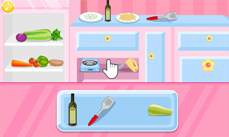 烹饪通心粉汤女孩游戏