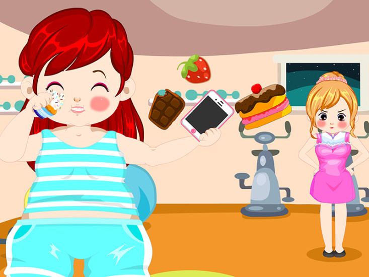 胖女生减肥健身偷懒小游戏