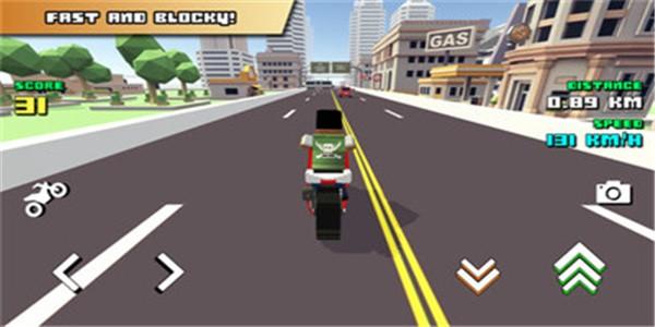 方块摩托车骑手