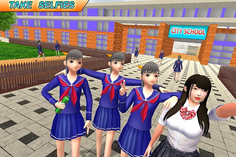 高中乐趣虚拟女孩游戏